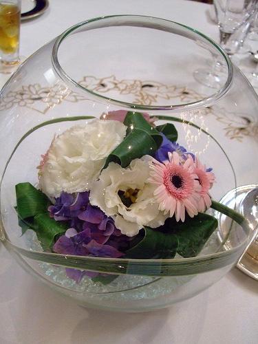 席のお花☆