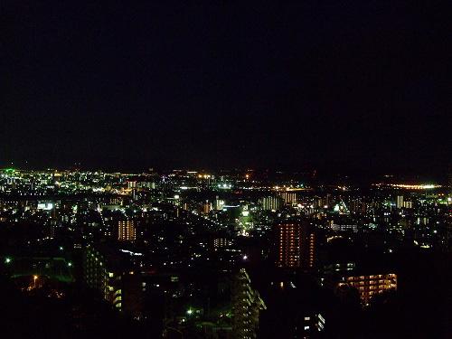 式場から見える夜景♪