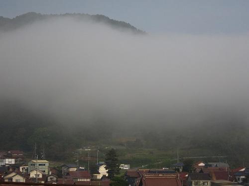 霧が大量発生~!