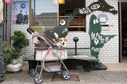 鬼太郎茶屋前で♪