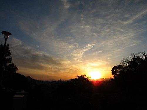 お山の公園からの夕日☆