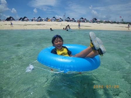 沖縄家族旅行2010 ナガンヌ島 031