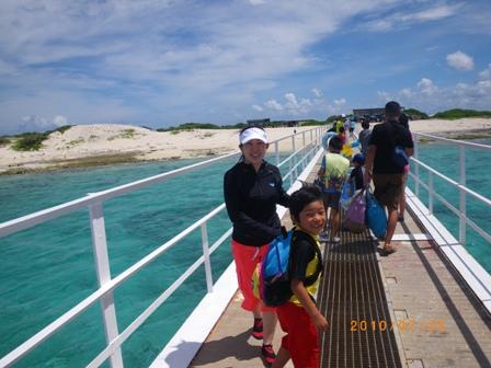 沖縄家族旅行2010 ナガンヌ島 002