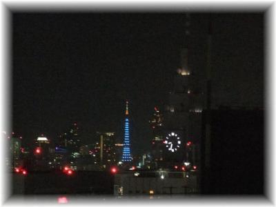 東京タワーとdocomo時計台