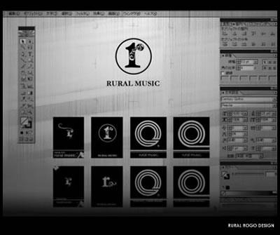 RURAL MUSICロゴデザイン。