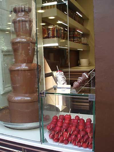 チョコと苺