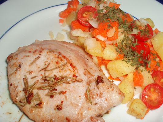豚ロース肉のローズマリー風味
