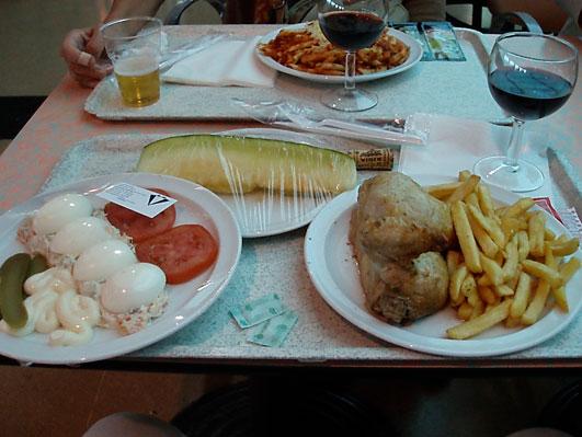 マドリッド空港での食事
