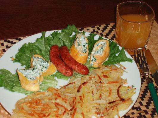 朝食第二弾(リコッタチーズ)