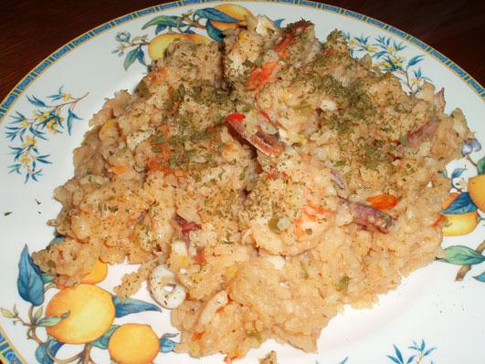 スペイン版魚の雑炊