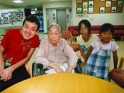 お祖母ちゃんと曾孫