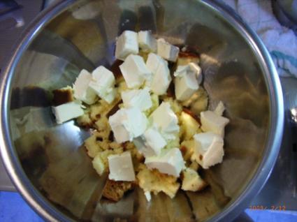 カステラ on クリームチーズ