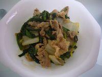 豚肉と白菜とニラ炒め