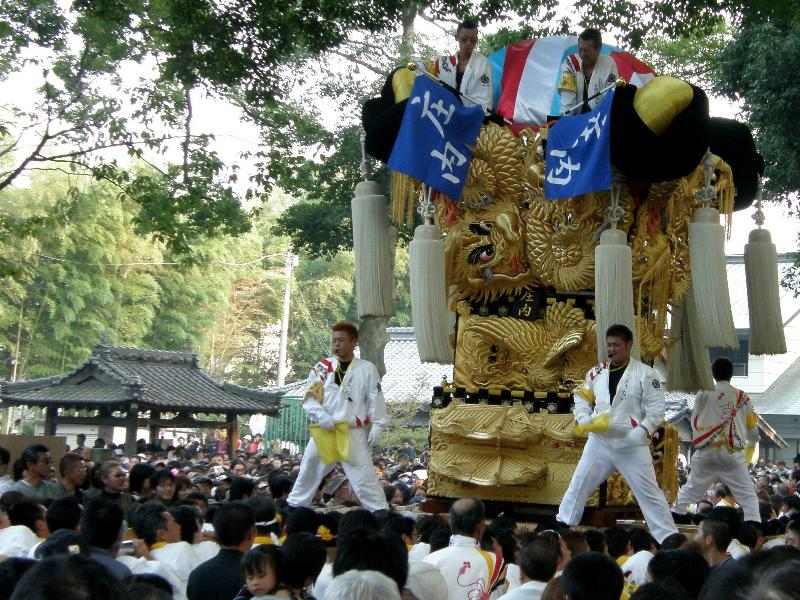 新居浜太鼓祭り2008年 一宮神社 庄内太鼓台
