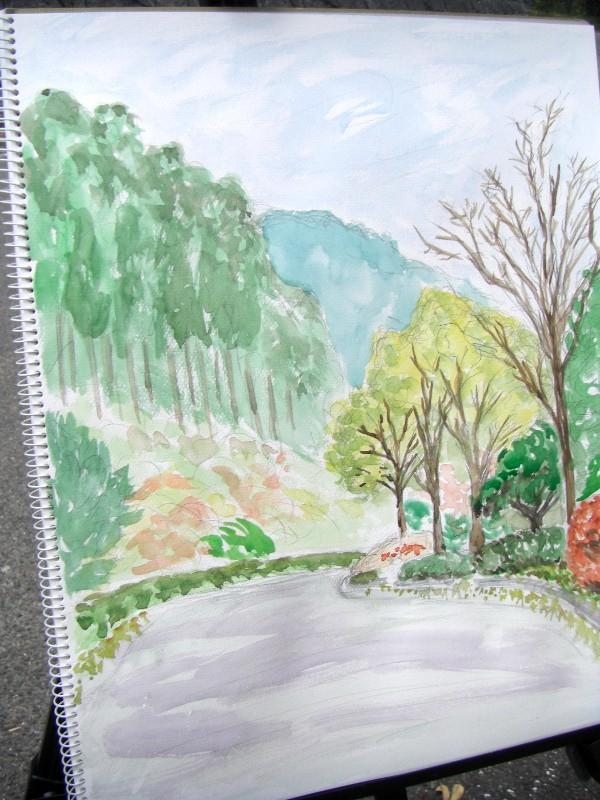 鈍川温泉 渓谷の紅葉
