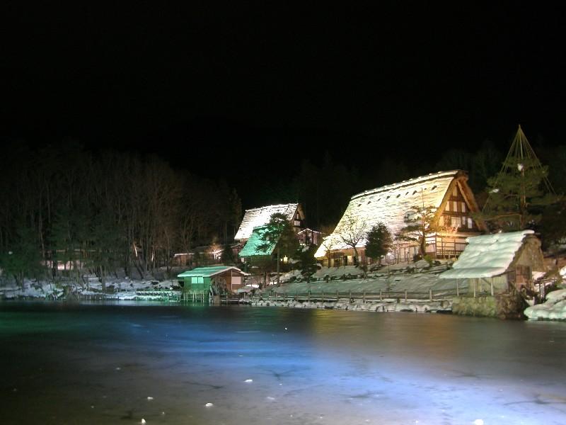 飛騨の里 冬のライトアップ