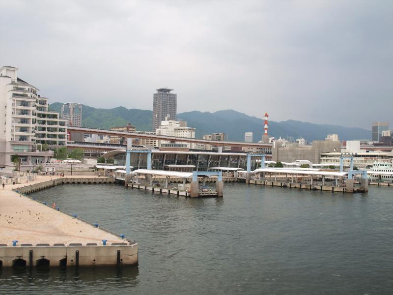 神戸 ハーバーランド 港の風景