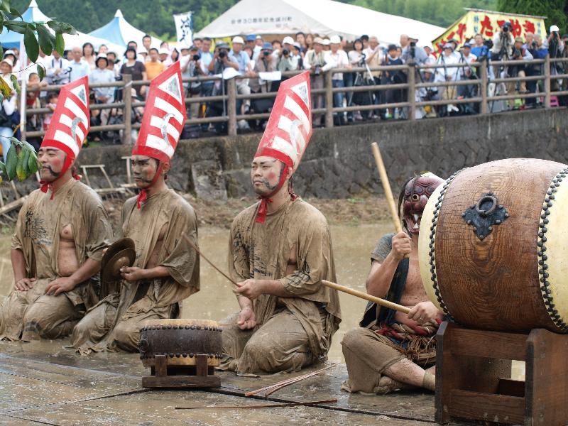 どろんこ祭り 城川町 さんばい降ろし
