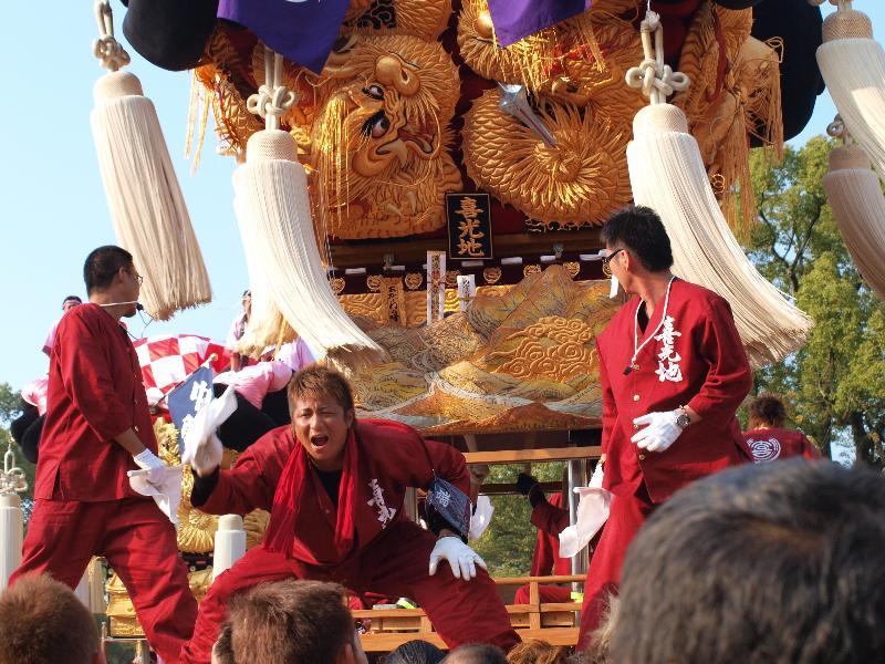 にいはま太鼓祭り 山根グラウンド 喜光地太鼓台