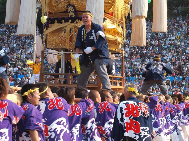 にいはま太鼓祭り 山根グラウンド 北内太鼓台