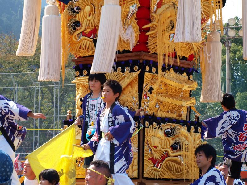 新居浜太鼓祭り 山根グラウンド 北内子ども太鼓台