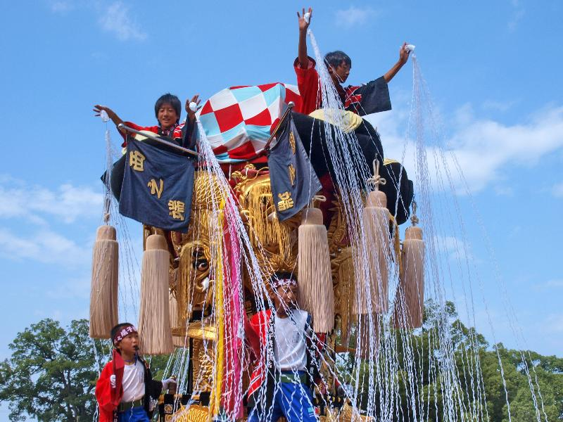 新居浜太鼓祭り 山根グラウンド 西之端子ども太鼓台