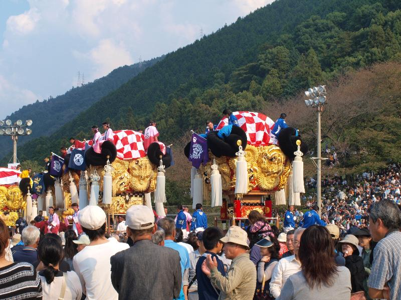 にいはま太鼓祭り 山根グラウンド 角野新田太鼓台