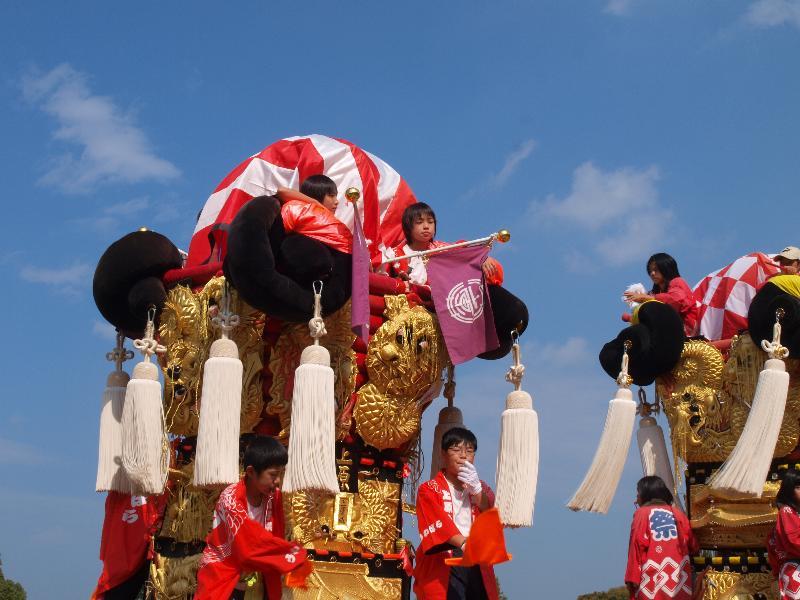 新居浜太鼓祭り 山根グラウンド 上原子ども太鼓台
