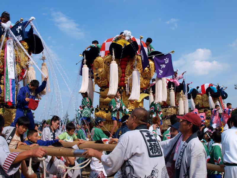 新居浜太鼓祭り 山根グラウンド 治良丸子ども太鼓