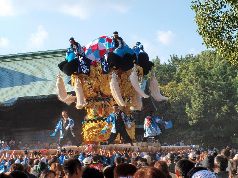 新居浜太鼓祭り 東浜太鼓台 八旗神社かきくらべ