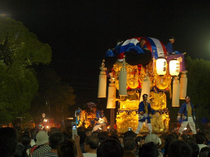 にいはま太鼓祭り 八旗神社 かきくらべ