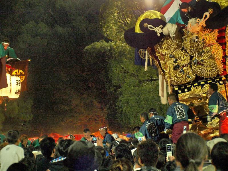 新居浜太鼓祭り 八旗神社 宇高太鼓台と浮島太鼓台