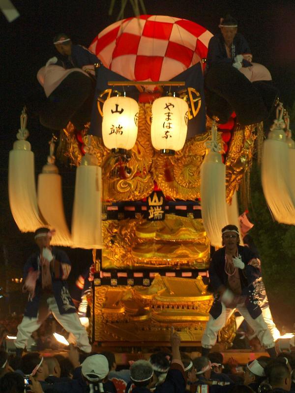 新居浜太鼓祭り 八旗神社 宮出し 山端太鼓台