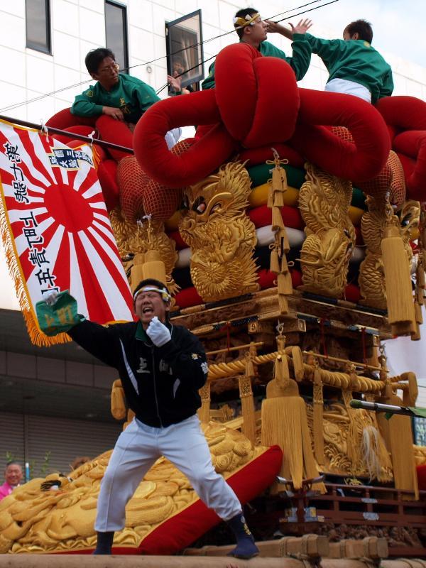 伊予三島秋祭り 太鼓台統一寄せ  かきくらべコンテスト