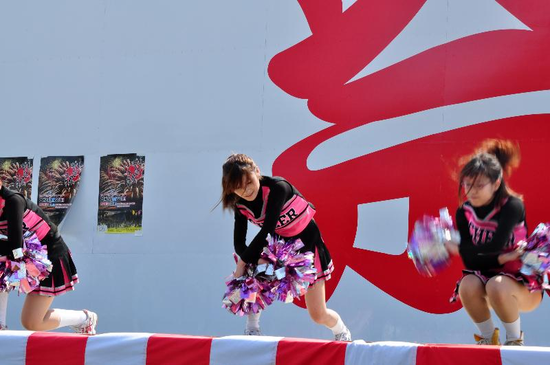 丸亀お城祭り チアリーディングショー