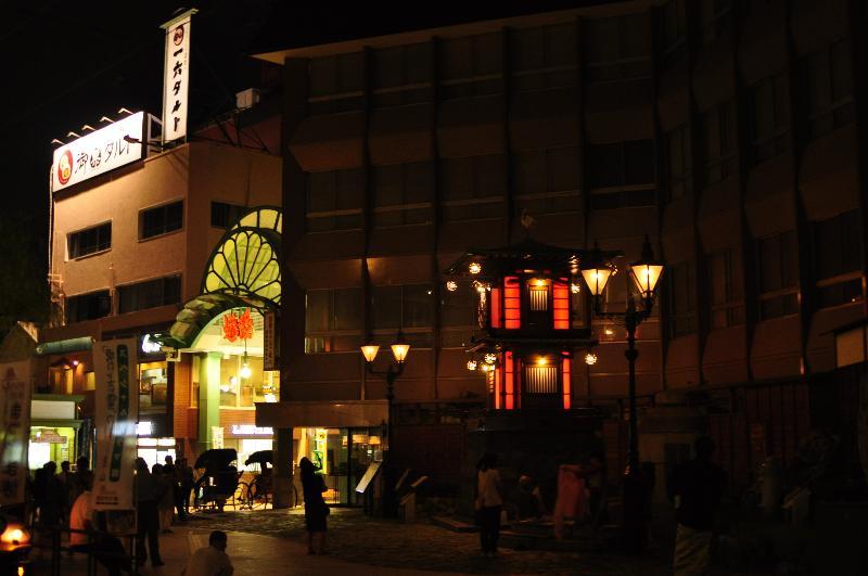 松山市 道後温泉街 夜の風景
