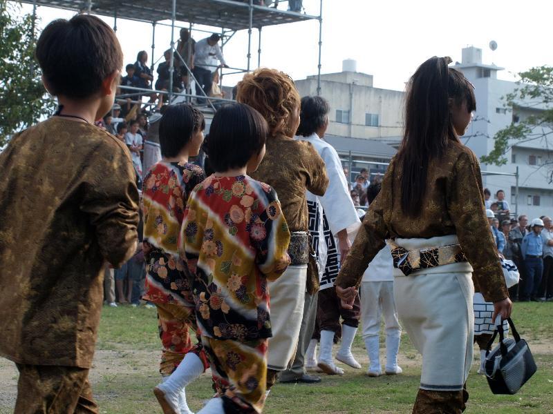 松山秋祭り 石手川緑地 神輿鉢合わせ 入場