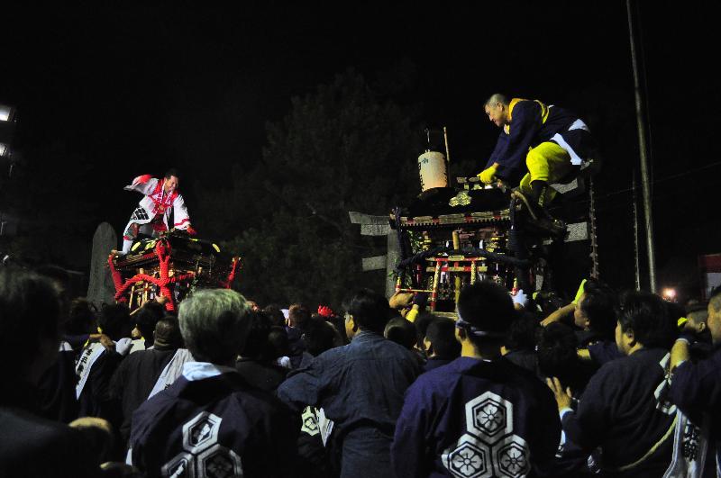 厳島神社の鉢合わせ