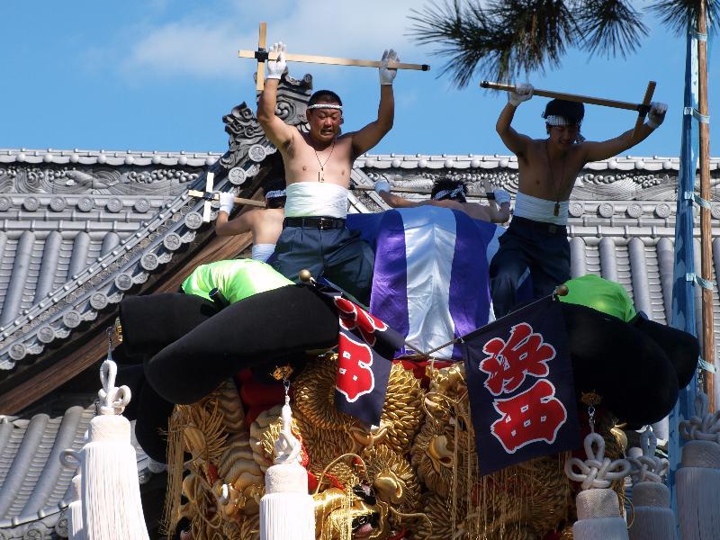 坂出市林田町 総社神社祭礼 宮入 浜西太鼓台