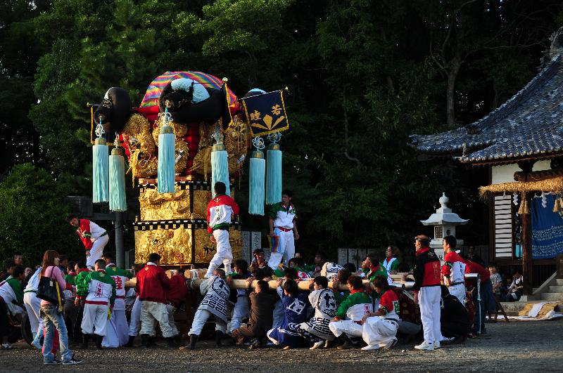三豊秋まつり  五十鈴神社  親睦会太鼓台