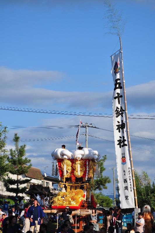 香川県三豊市豊中町 五十鈴神社 祭り 田井太鼓台