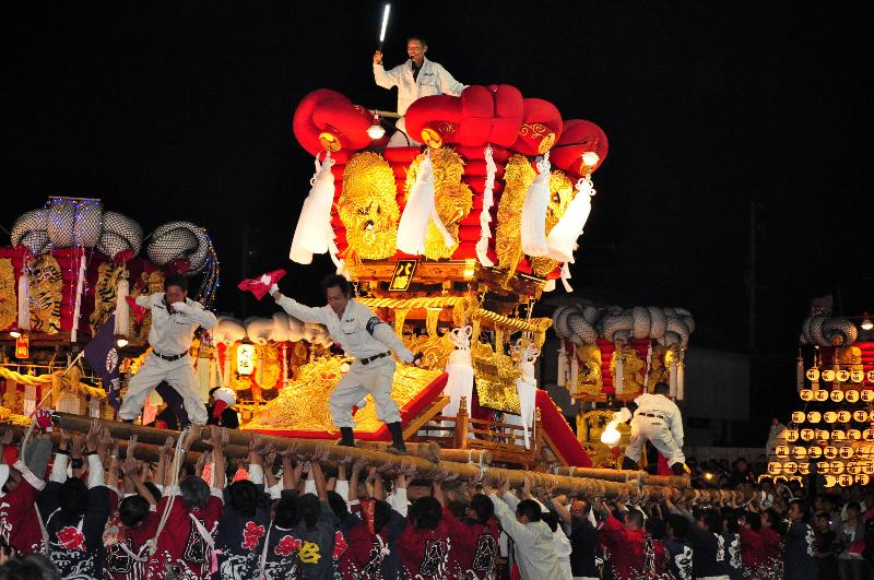 とよなか秋の祭り ゆめタウン三豊 八幡太鼓台