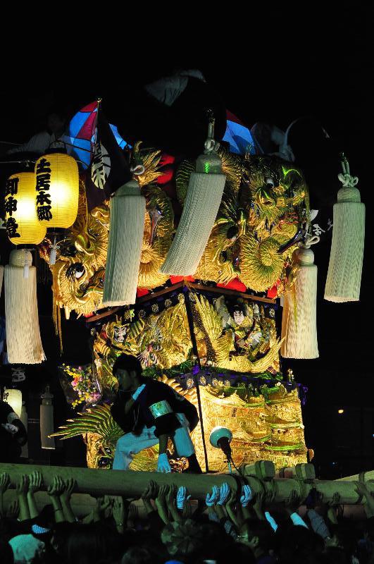 土居秋祭り ユーホール南駐車場 土居本郷太鼓台