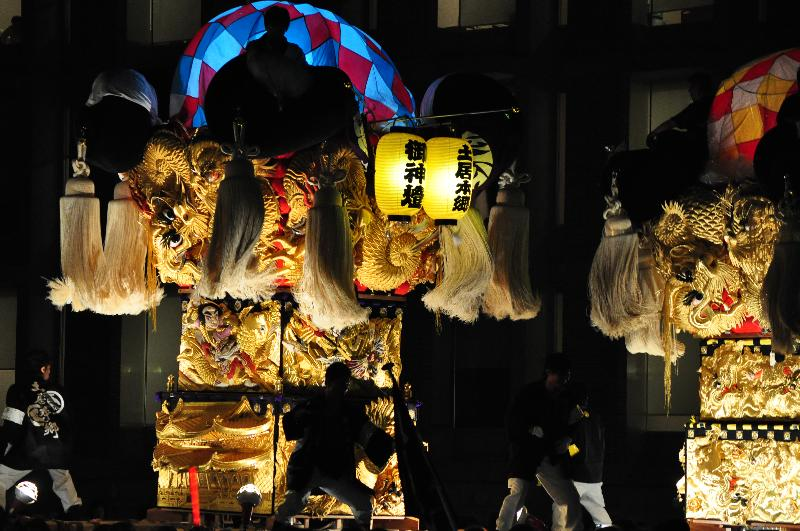 平成22年土居秋祭り ユーホール南駐車場 土居本郷太鼓台