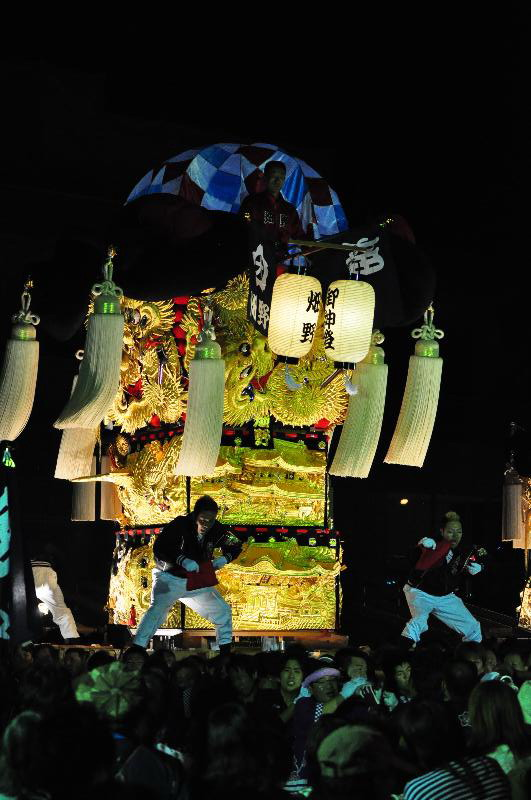 平成22年土居秋祭り 畑野太鼓台 ユーホール南駐車場