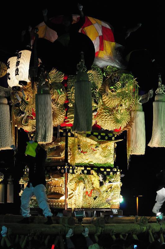 平成22年土居秋祭り ユーホール南駐車場 飯武太鼓台