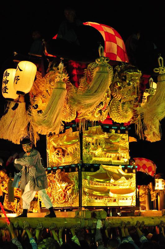 平成22年土居秋祭り 入野太鼓台 ユーホール南駐車場
