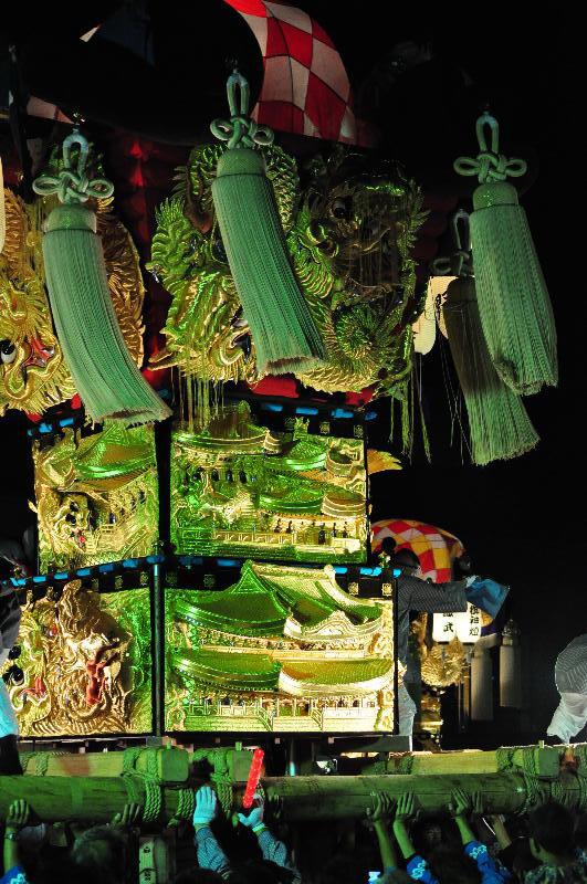 土居秋祭り ユーホール南駐車場  入野太鼓台