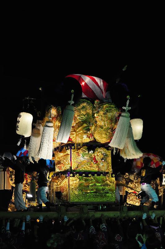 平成22年土居秋祭り ユーホール南駐車場 木之川太鼓台