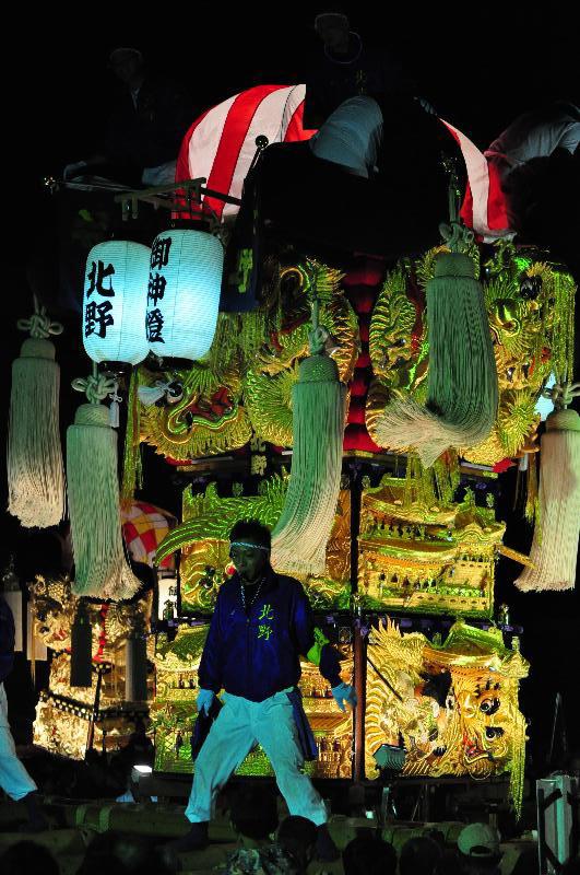 土居秋祭り ユーホール南駐車場  北野太鼓台
